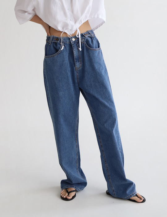 BOY BUTTON DENIM PANTS (2COLOR)