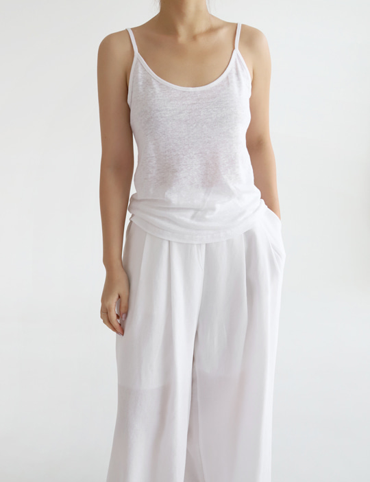 LINEN CAMISOLE TOP (4COLOR)
