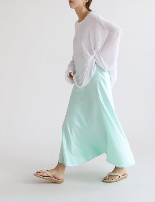 PASTEL FLARE SILK SKRIT (4COLOR)