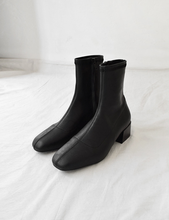 SLIM-FIT ANKLE BOOTS (4COLOR)