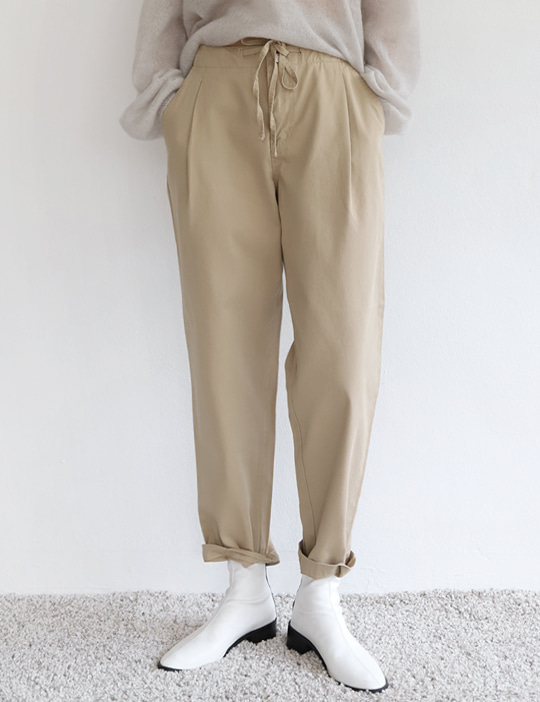 CLOSET STRING COTTON PANTS (2COLOR)