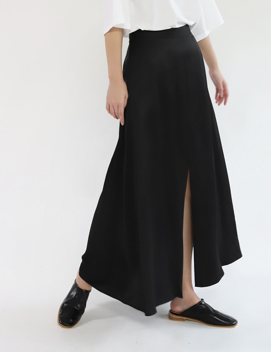 SATIN FLARE SKIRT (3COLOR)