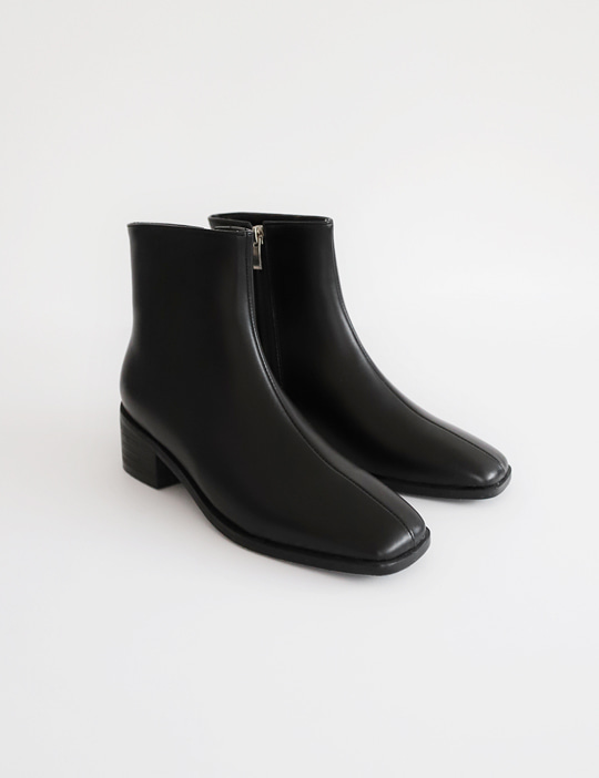 BLACK-HEEL BOOTS (3COLOR)