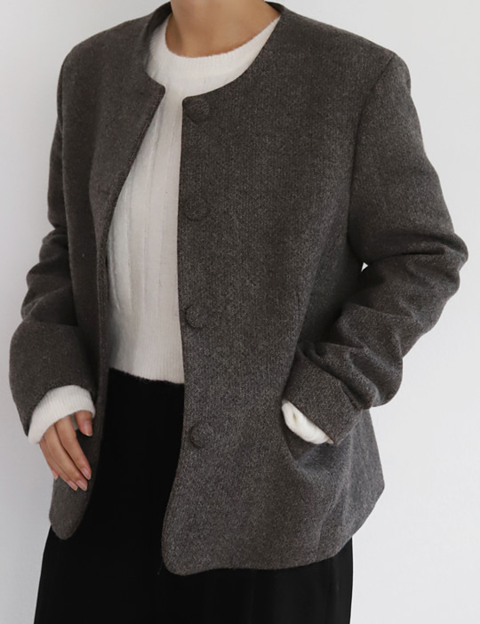 ROUND SHORT JACKET (2COLOR)