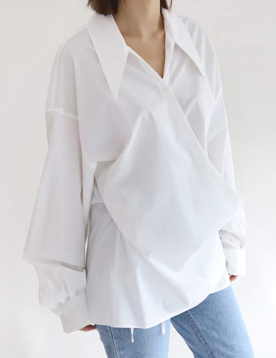 OUR WRAP BLOUSE (3COLOR)