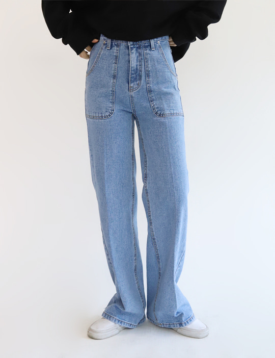 SAY POCKET DENIM PANTS