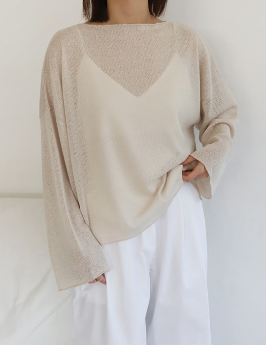 SAND KNIT TEE (3COLOR)