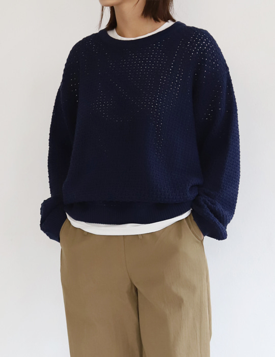 BISCUIT ROUND KNIT (4COLOR)