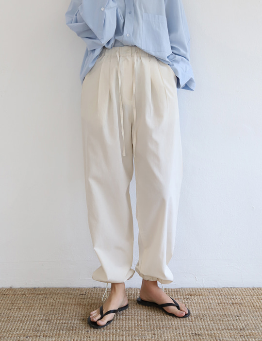 [stock sale] PEANUT STRING JOGGER PANTS (2COLOR)