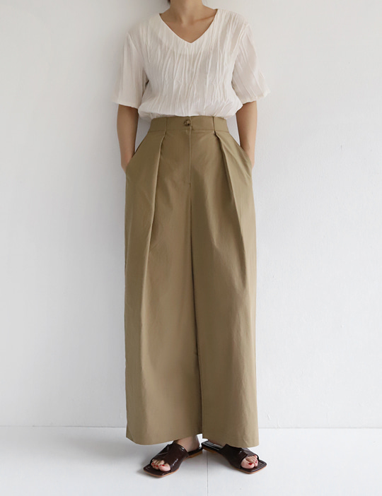 TALK TUCK PANTS (4COLOR)